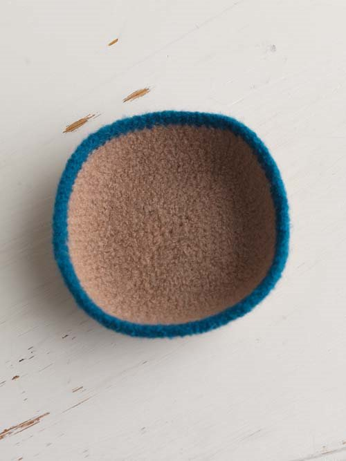 Felted Crochet Bowls