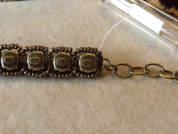 Learn how to make a seed bead bracelet with this step-by-step tutorial: Step 3.