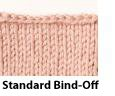 Learn everything you need to know about binding-off knitting techniques including the Standard Bind-Off in this exclusive knitting blog.