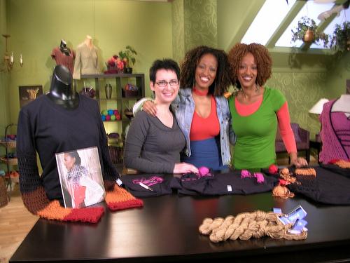 Me, Monika and Erika on Set