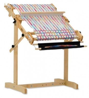 An example of a rigid-heddle weaving loom!