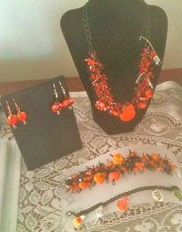 jewelry selling home party Halloween display
