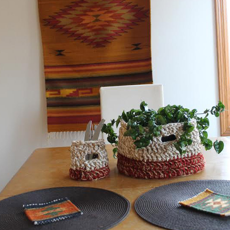 Decorate Your Dining Table With Handmade Crochet Baskets