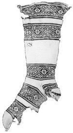 Arabic stocking from Folk Socks by Nancy Bush