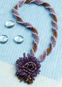 herringbone stitch beaded necklace tutorial