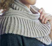Two Ribs Infinity Scarf Pattern found in our FREE eBook that contains 7 infinity scarf patterns.