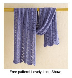 3bb087af3884 Free Pattern  Lovely Lace Shawl (Plus More Lace Tips!)