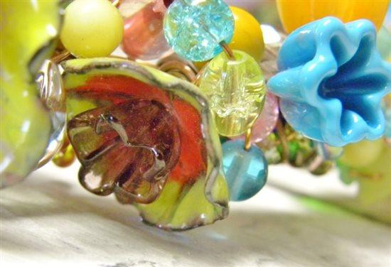 enamel flower glass head pins