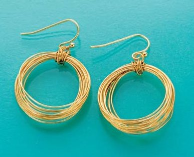 Becky Nunn wire hoop earrings Step by Step Wire Jewelry cover Feb/March 2015