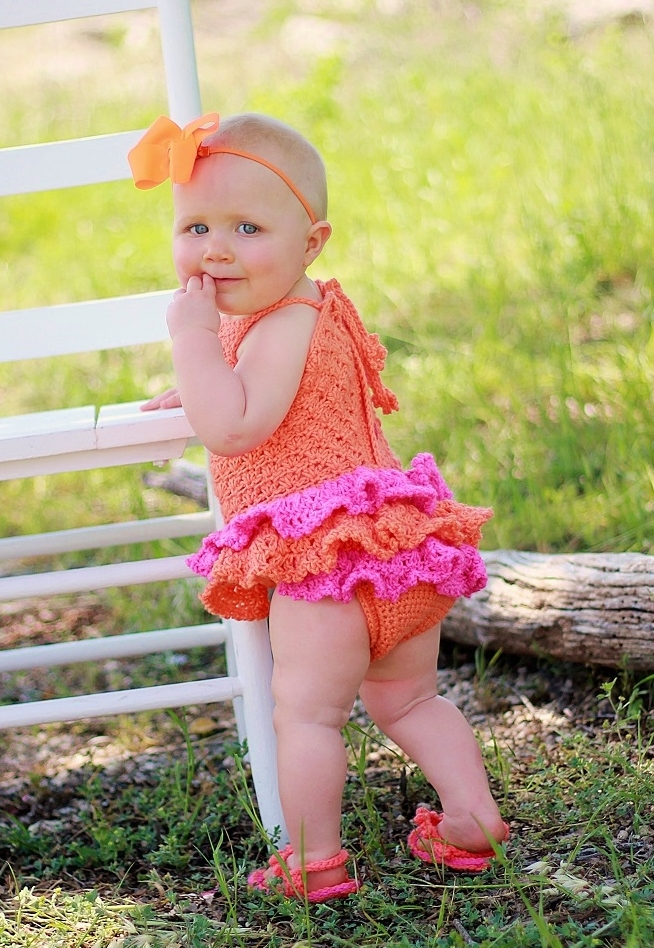 cf2035ae3533 Find this adorable crochet pattern in my blog   http   crochetdreamz.blogspot.com 2014 04 baby-sun-suit-romper-crochet- pattern.html