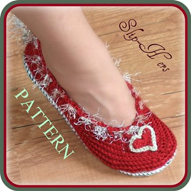 Crochet Ballet Slippers Two Patterns Kids And Adults Interweave