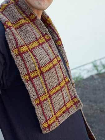 Plaid Crochet Scarf
