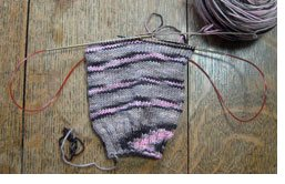 Learn about magic loop knitting with socks in this exclusive knitting guide.