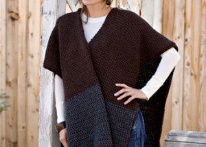 You'll love crocheting this Tunisian crochet ruana-style wrap in this free guide.