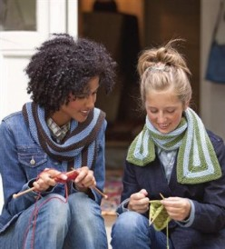 The Building Block Scarves are two scarf pattern projects found in our free Knitting Scarves for all Seasons eBook.