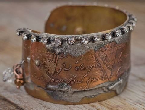 Helena and Constantius etched cuff bracelet from Making Etched Metal Jewelry
