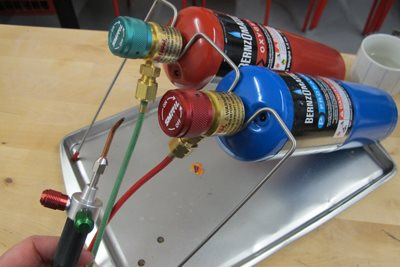 Portable Smith Little Torch for soldering jewelry.