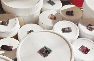 When you buy enamels, make color test chips on scraps of metal.