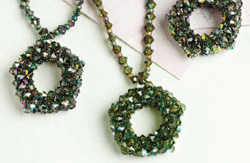 How to do the cubic right-angle weave in beading the RIGHT way, and you'll be able to make beaded jewelry like these cubic right-angle weave beaded necklaces.