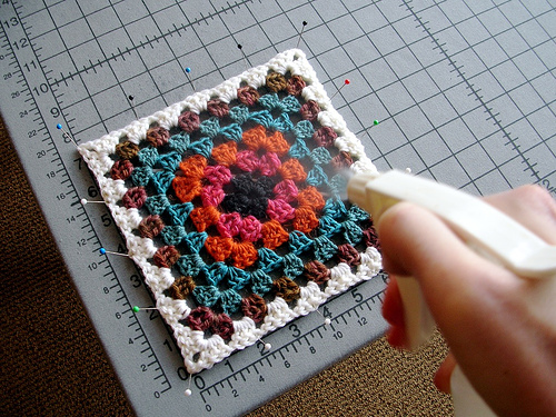 How To Spray Block Free Tutorial For Crochet Or Knit Pieces
