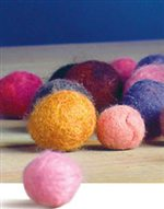 Learn everything you need to know about wet felting beads with this free felt knitting pattern.