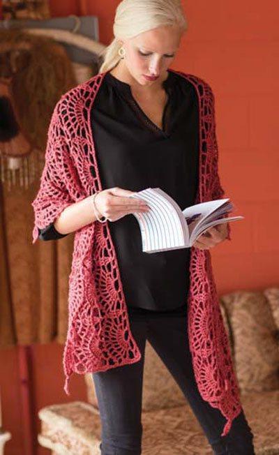 Colorful Crochet Lace: Lace Crochet Wrap