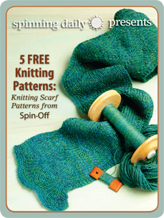 Learn how to spin yarn and make knitted scarves in this exclusive spinning eBook from Interweave.