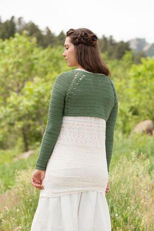Crochet Cabled Bolero
