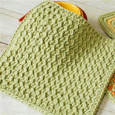 Crunchy Stitch Crochet Dishcloth Pattern Interweave