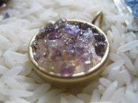 faux druzy gemstones using resin
