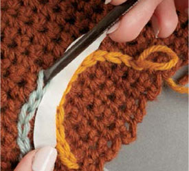 How to do embroidery crochet stitching: free tutorial