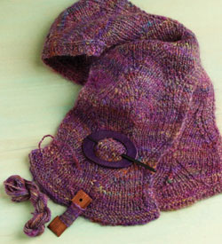 Made from wool, alpaca, mohair, and silk, this colorful knit scarf is sure to become a favorite you'll reach for on chilly days! It can be found in this free ebook that contains 5 scarf knitting patterns