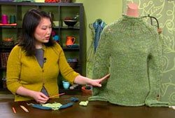 Learn how to fix knitting mistakes such as making your sweaters too long or short. Video tutorial from Interweave!