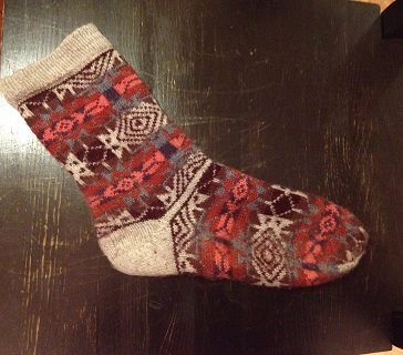 Check out the short-row heel on the Bandelier Fair Isle socks.