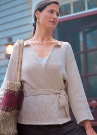 Easy Knit Sweater Pattern: Super-Simple Wrap Jacket