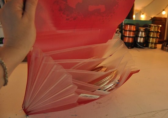 wire storage accordion folder