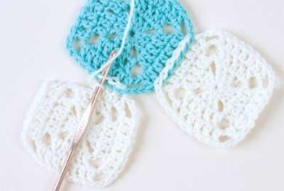Learn how to join crochet motifs as you go.