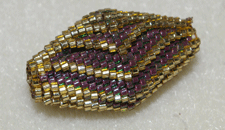 how to make a beaded bead with peyote stitch