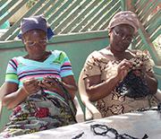 Women Crocheting Bags
