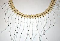 You'll love updating vintage jewelry into a beaded jewelry masterpiece, such as this example.