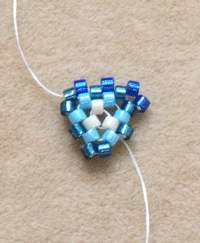 Making Peyote Stitch Triangle Step 3