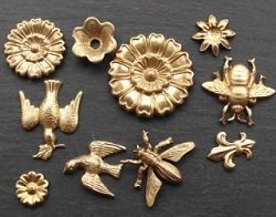 Brass jewelry components and stampings from Nunn Design