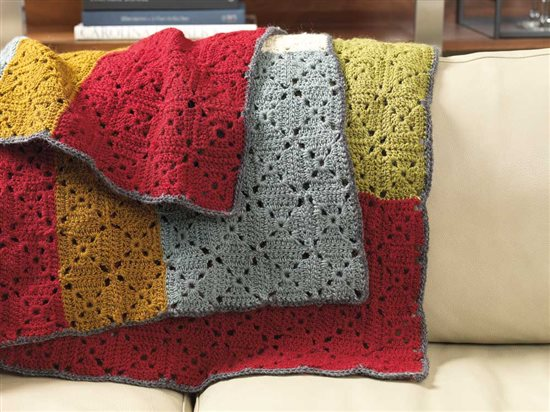 Unexpected Afghans: Crochet Motifs Afghan