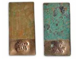 create brass jewelry patina using household items