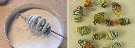 Sharilyn Miller's enameled wire coil jewelry