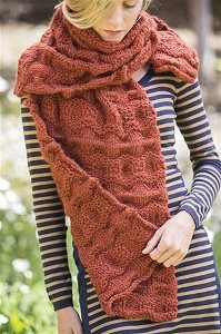 Tanawha reversible knitted wrap