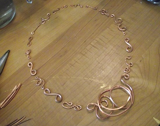 make handmade wire chain
