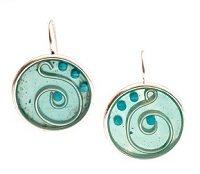 tinted resin earrings