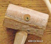 Rawhide mallet jewelry hammer.