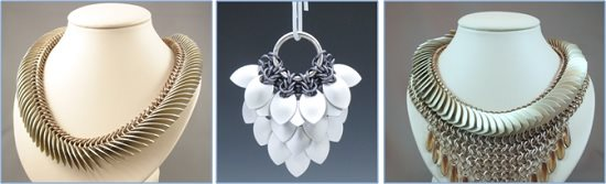 learn chain maille and scale maile jewelry with Karen Karon